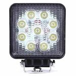 LED Flood Light 27W 10-30V DC 6500K Square