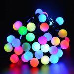 Χριστουγεννιάτικα Λαμπάκια Led Μπαλάκια RGB 200L Φ16 17m + Contr