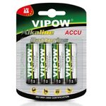 Alkaline Batteries AA LR6 4pcs