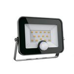 LED Flood Light 50W 5500K 230V with Motion Sensor Black