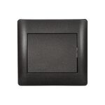 Switch 1 Button 1 Way Rhyme Graphite Metallic