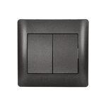 Switch 2 Button 2 Way Rhyme Graphite Metallic