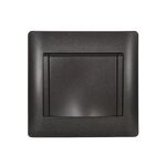 Schuko Socket with Cover Rhyme Graphite Metallic