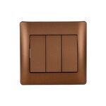 Switch 3 Buttons 1 Way Rhyme Coffee Metallic