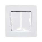 Switch 2 Buttons Curtain Control City White