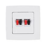 Audio Socket Double City White