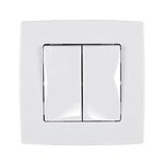 Switch 2 Button 1 Way Switch City White