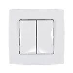 Switch 2 Button 2 Way Switch City White