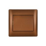 Switch 1 Button 1 Way Rhyme Coffee Metallic