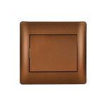 Switch 1 Button 2 Way A/R Rhyme Coffee Metallic
