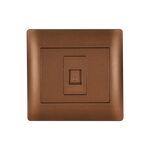 Phone Socket RJ11 Rhyme Coffee Metallic