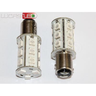 Led Bulb BAY15D 18 SMD 5050 RED 10-30V DC