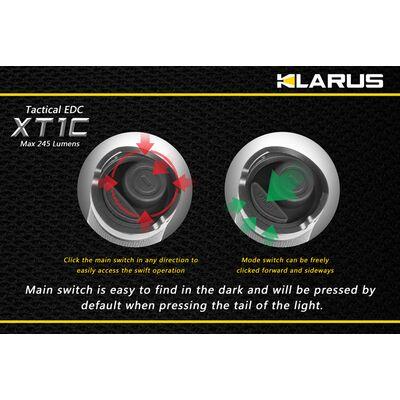 Klarus XT1C 245 Lumens