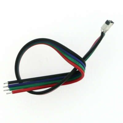 Connector 4 pins with cable 20cm RGB
