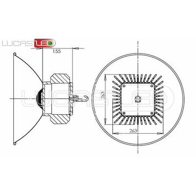Lucas Led HighBay 180W 19800 Lumens