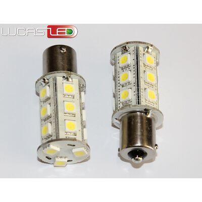 Led Bulb BA15S 18 SMD 5050 COOL 10-30V DC