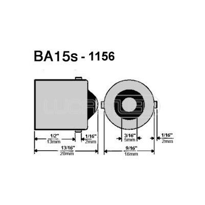 Λάμπα Led BA15S 3W 9-32V Cool White