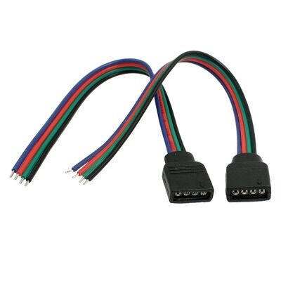 Connector 4 επαφών με καλώδιο 15cm RGB  Line Θηλυκό