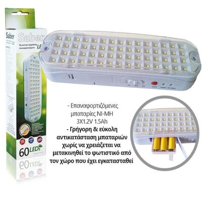 Led Safety Luminaire with 60 LEDS