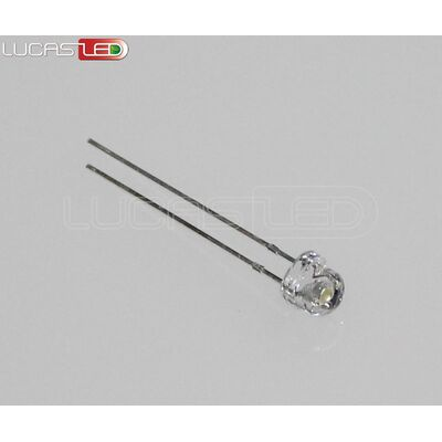 Led 5mm Straw Hat Cool White 3-3,2V