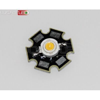 Power Led 1W Warm White+PCB