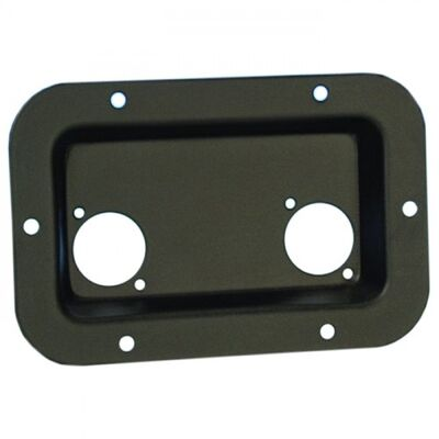 Recessed Speakon Plate for PA/DJ Speaker Cabinets