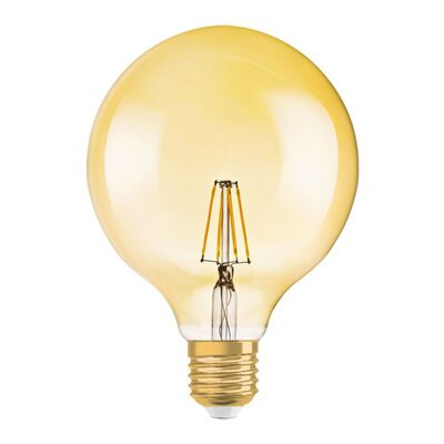 Led Lamp E27 8W Filament 2200K G125 Dimmable Gold Tint