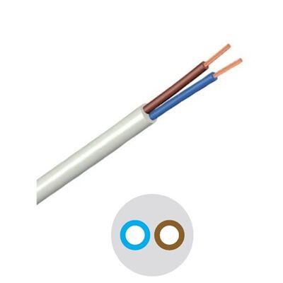 Καλώδιο Εύκαμπτο Στρόγγυλο 2x1.00mm Λευκό H05VV-F