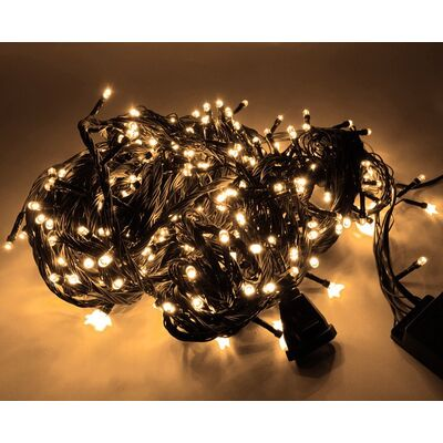 Christmas Led Lights Warm White 100L 9.4m + Controller