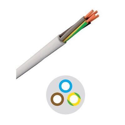 Καλώδιο Εύκαμπτο Στρόγγυλο 3x1.5 mm Λευκό H05VV-F Ρεύματος