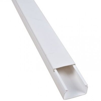 Plastic Cable Trunking CT2 12x12 White