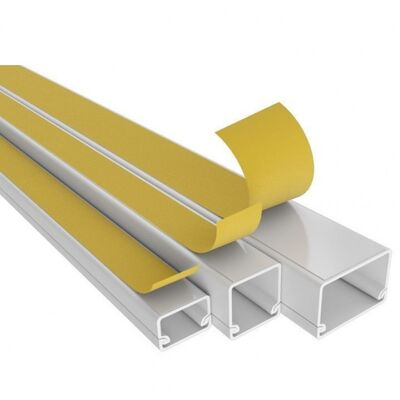 Plastic Cable Trunking Self-Adhesive 16x16 White