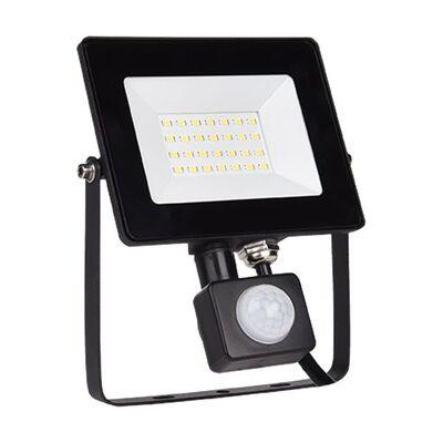 LED Flood Light 20W 5500K 230V with Motion Sensor Black
