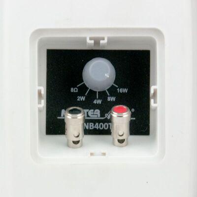 Ηχεία Master Audio NB400TW White Pair (Ζεύγος) Αδιάβροχα Εξωτερικού Χώρου